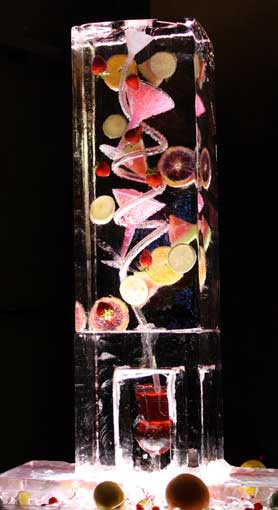 Brilliant Ice - Ice Luge Closeup