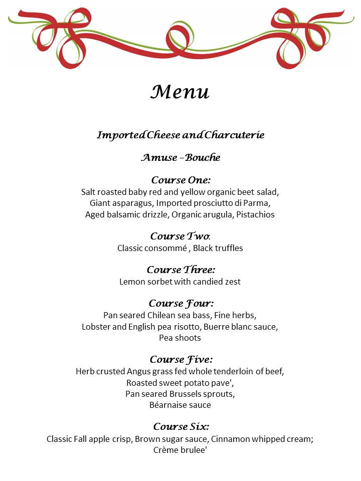 Holiday Dinner Party Menu
